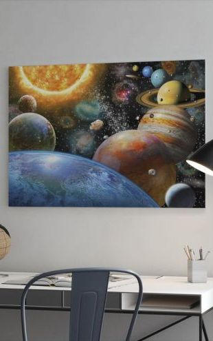 【Canvas Print】PHOTOWALL / Planets and Their Moons (e312191)