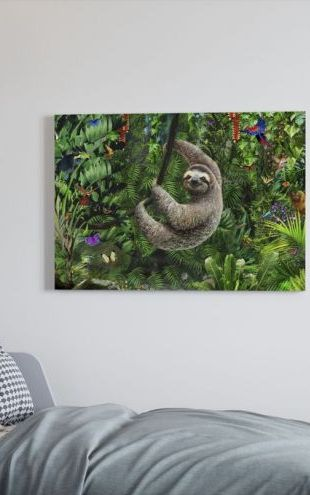 【Canvas Print】PHOTOWALL / Sloath in Jungle (e312202)