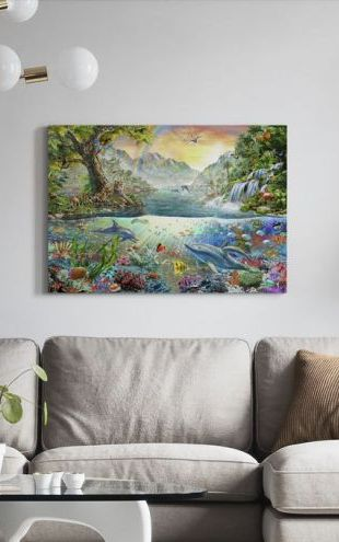 【Canvas Print】PHOTOWALL / Land and Water Utopia (e312208)