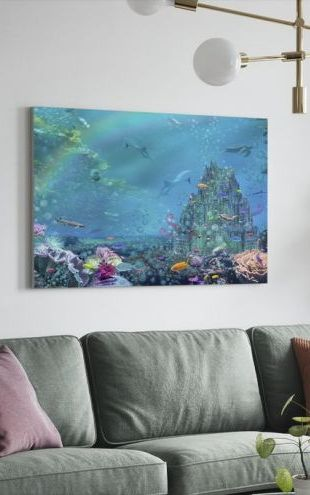 【Canvas Print】PHOTOWALL / Underwater Castle (e312364)
