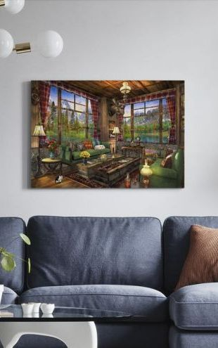 【Canvas Print】PHOTOWALL / Mount Cabin View (e312512)