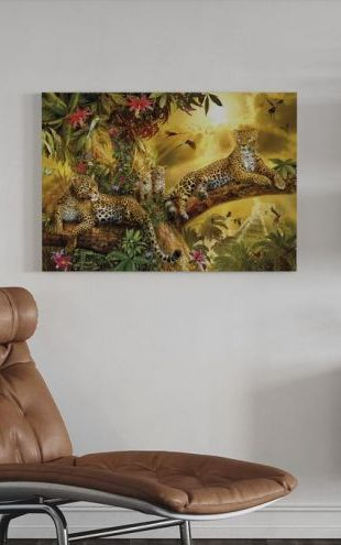 【Canvas Print】PHOTOWALL / Jungle Jaguars (e312562)