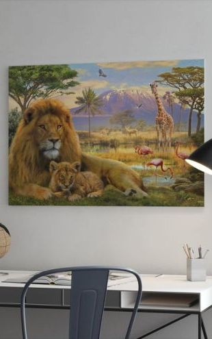 【Canvas Print】PHOTOWALL / Lion (e312576)