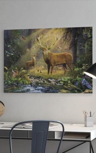 【Canvas Print】PHOTOWALL / Sun Light Deers (e312580)