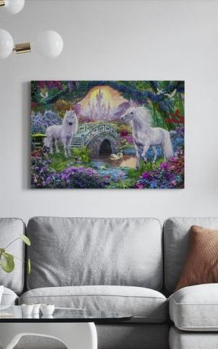 【Canvas Print】PHOTOWALL / Magical Unicorn Kingdom (e312582)