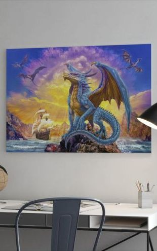 【Canvas Print】PHOTOWALL / Dragons and Ship (e312588)