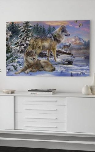 【Canvas Print】PHOTOWALL / Wolves in Winter (e312590)