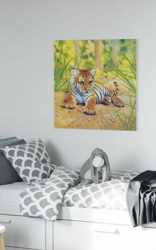 【Canvas Print】PHOTOWALL / Cub Concentrating (e312630)