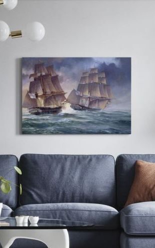 【Canvas Print】PHOTOWALL / HMS Endymion and USS President (e312661)