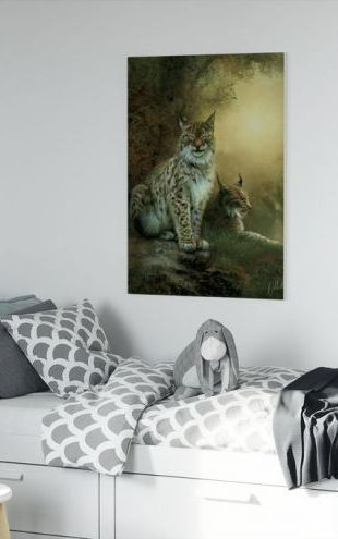 【Canvas Print】PHOTOWALL / Two Lynxes (e312676)