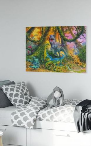 【Canvas Print】PHOTOWALL / Dinosaur Jungle (e312761)