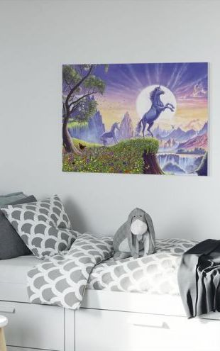 【Canvas Print】PHOTOWALL / Unicorn Moon Ravens (e312774)