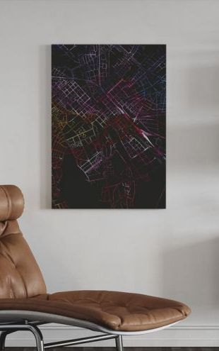 【Canvas Print】PHOTOWALL / Uppsala in Sweden - Map (e313287)