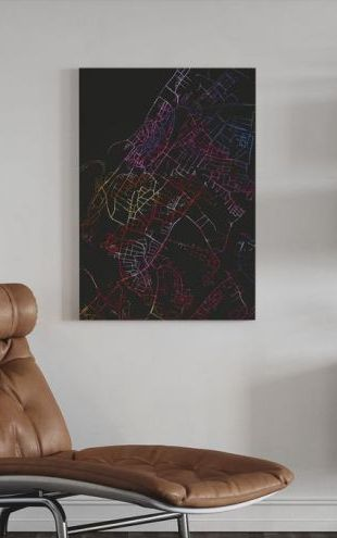 【Canvas Print】PHOTOWALL / Visby in Sweden - Map (e313290)