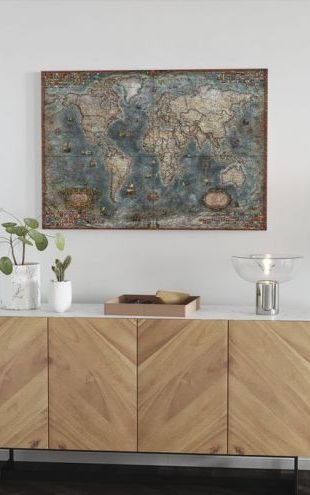 【Canvas Print】PHOTOWALL / Old Style World Map (e314294)