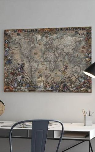 【Canvas Print】PHOTOWALL / Pirates Map (e314295)