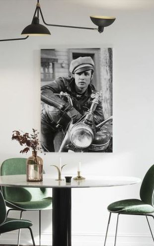 【Canvas Print】PHOTOWALL / Marlon Brando in the Wild One (e314718)
