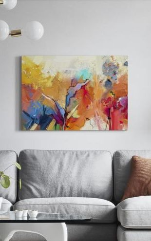 【Canvas Print】PHOTOWALL / Colorful Abstract Painting (e316103)