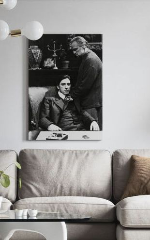 【Canvas Print】PHOTOWALL / Godfather - Al Pacino and Marlon Brando (e316900)