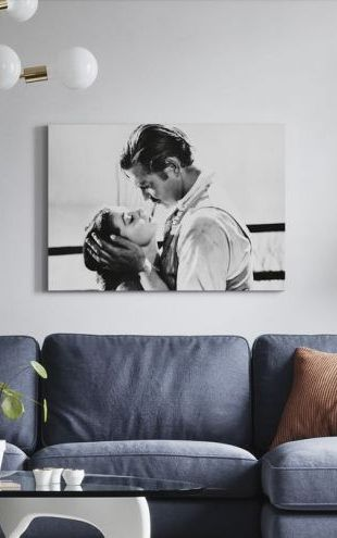 【Canvas Print】PHOTOWALL / Gone with the Wind - Clark Gable and Vivien Leigh (e317031)