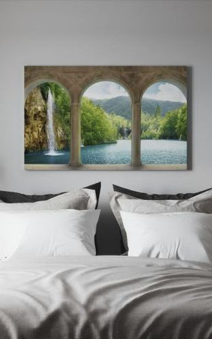 【Canvas Print】PHOTOWALL / Waterfall behind Vault (e317663)