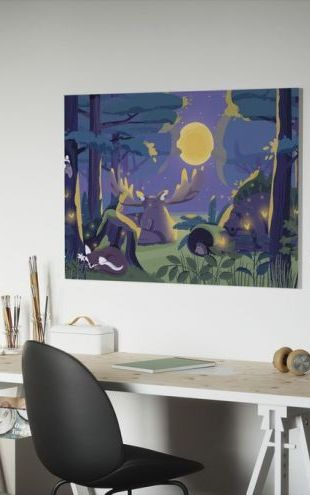 【Canvas Print】PHOTOWALL / Sleepy Forest (e319260)