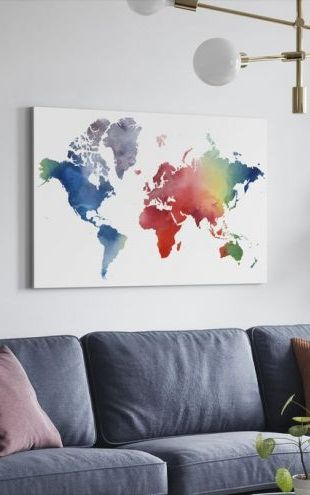 【Canvas Print】PHOTOWALL / Rainbow World (e320343)