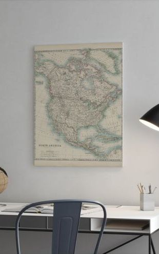 【Canvas Print】PHOTOWALL / Johnstons Map of North America (e320408)