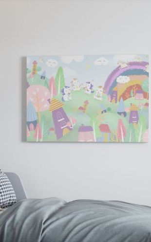 【Canvas Print】PHOTOWALL / Unicorn Village (e321320)