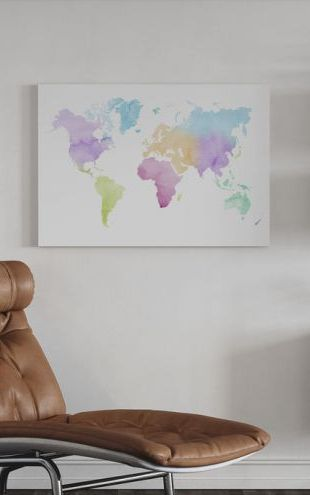 【Canvas Print】PHOTOWALL / Watercolor World Multicolored (e321175)