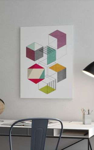 【Canvas Print】PHOTOWALL / Multicolores Cubes (e321200)