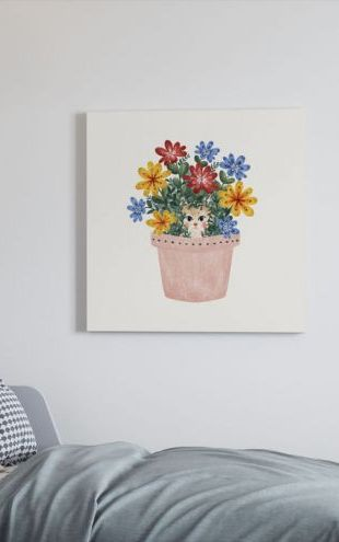 【Canvas Print】PHOTOWALL / Cat in the Flowerpot (e322964)