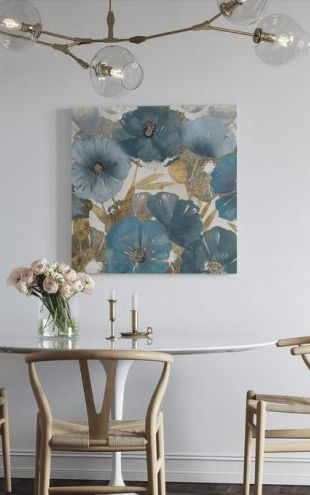 【Canvas Print】PHOTOWALL / Blue and Gold Poppies (e321367)