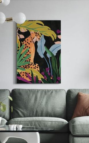 【Canvas Print】PHOTOWALL / Cheetah Kingdom (e321380)