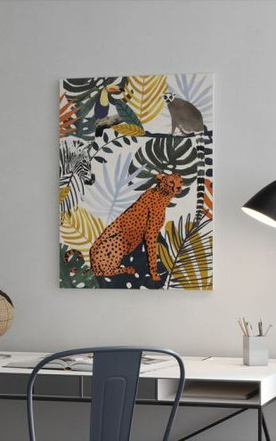 【Canvas Print】PHOTOWALL / Jungle Jumble (e321412)