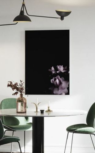 【Canvas Print】PHOTOWALL / Flower Abstract Purple (e323395)