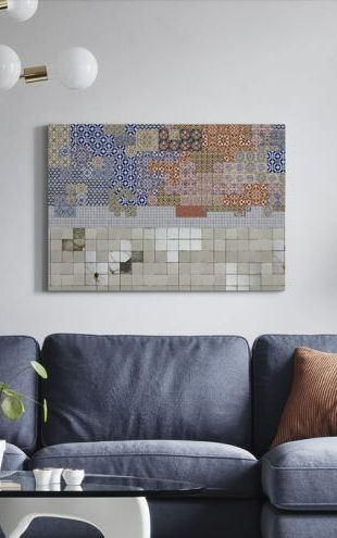 【Canvas Print】PHOTOWALL / Tiles meets Tiles (e325522)
