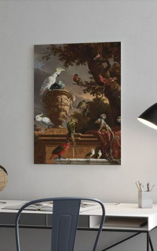 【Canvas Print】PHOTOWALL / Menagerie - Melchior D'Hondecoeter (e325873)