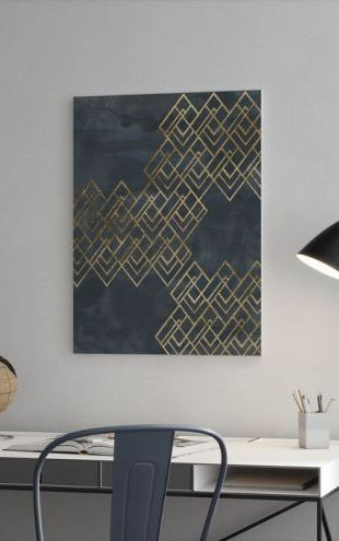 【Canvas Print】PHOTOWALL / Deco Pattern in Blue (e324928)