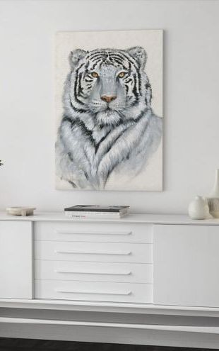 【Canvas Print】PHOTOWALL / White Tiger (e324650)