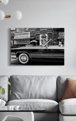 【Canvas Print】PHOTOWALL / Black Manhattan - Classic Car (e328642)