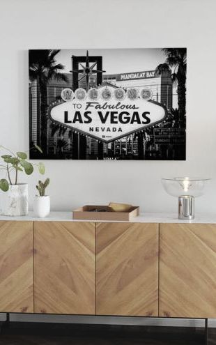 【Canvas Print】PHOTOWALL / Black Nevada - Welcome to Las Vegas (e328644)