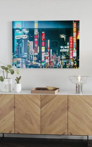 【Canvas Print】PHOTOWALL / Japan Rising Sun - Shinjuku at Night (e328655)