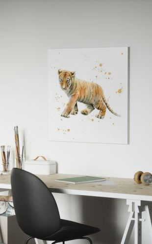 【Canvas Print】PHOTOWALL / Tiger Cub (e328683)