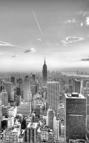 PHOTOWALL / New York City 2 - b/w (e1591)