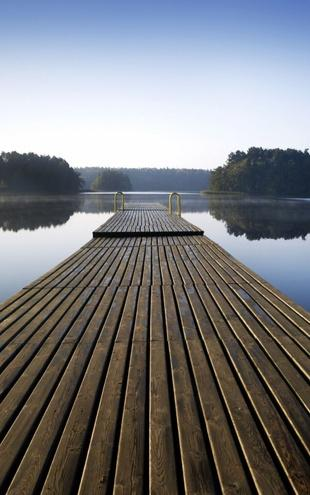 PHOTOWALL / Wooden Pier at Morning (e19158)