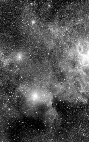 PHOTOWALL / Stellar Field Nebulae - b/w (e1971)