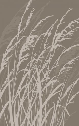 PHOTOWALL / Grass - Brown (e6299)