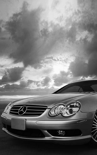 PHOTOWALL / Mercedes-Benz SL55 - b/w (e6328)
