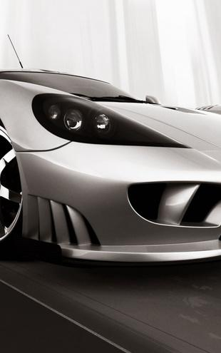 PHOTOWALL / Saleen S7 - b/w (e6330)